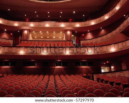Interior of the Cairo Opera House - stock photo