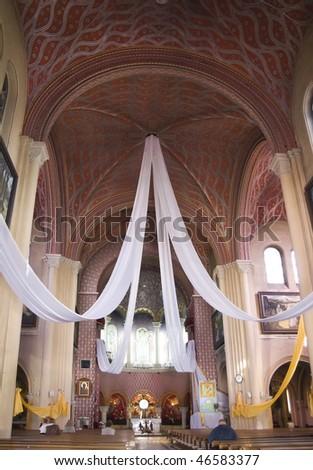 interior of the church, Minsk - stock photo