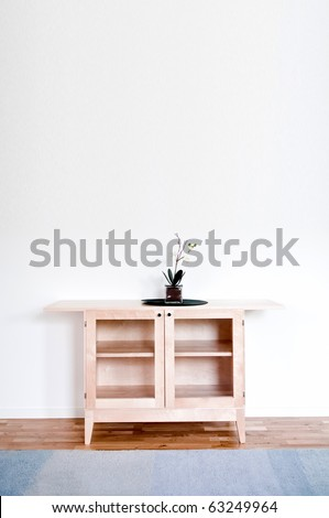 Interior of the clean stylish home apartment - stock photo