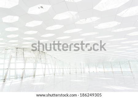 interior of the modern building - stock photo