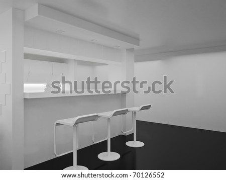 Interior of the modern room. High resolution image. 3d rendered illustration. - stock photo