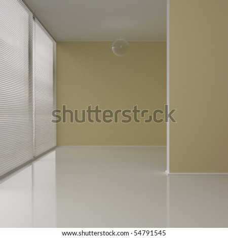 Interior of the new apartment - 3d illustration - stock photo