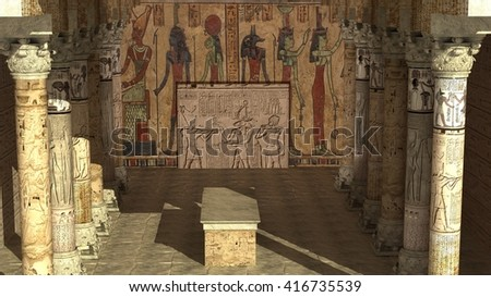 egyptian temple interior stock images, royalty-free images