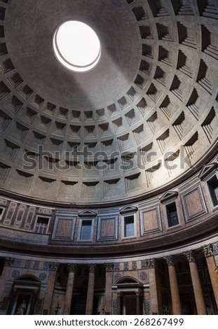 Interior of the Pantheon. Rome, Italy