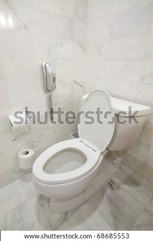 Interior of the room - Toilet in the bathroom - stock photo