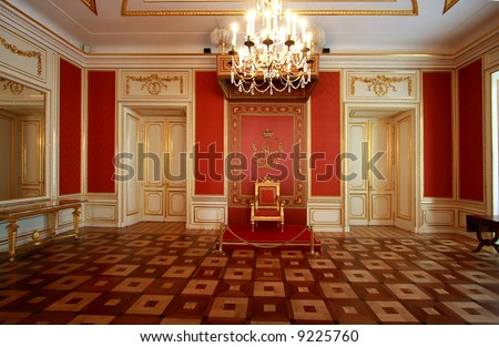 Interior of the Royal Castle in Warsaw. Residence of Polish kings and presidents. Actually on the UNESCO World Heritage List