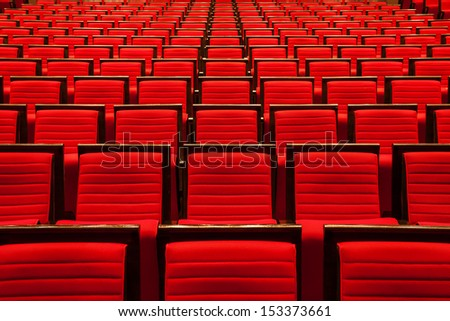 interior of the theater - stock photo