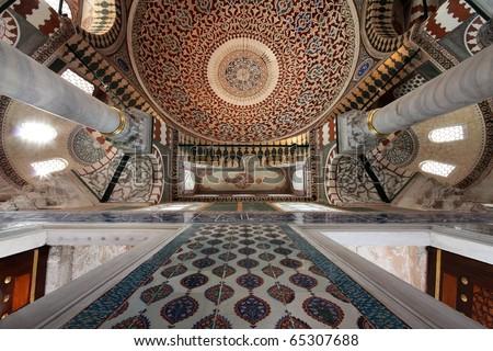 Interior Topkapi Palace Istanbul Turkey Stock Photo