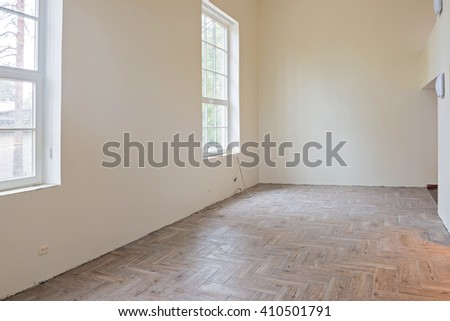 Interior of unfinished living room  - stock photo