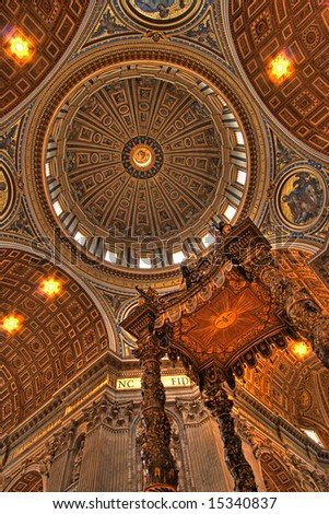 Interior of Vatican City - rome - italy (high detail) - stock photo