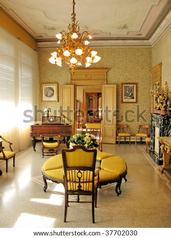 Interior of villa Monastero. Lake Como, Italy - stock photo