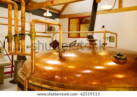 interior of whisky distillery, Cape Breton, Nova Scotia - stock photo