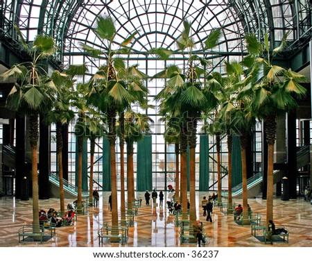 Interior Winter Garden Building New York Stock Photo (Royalty Free ...