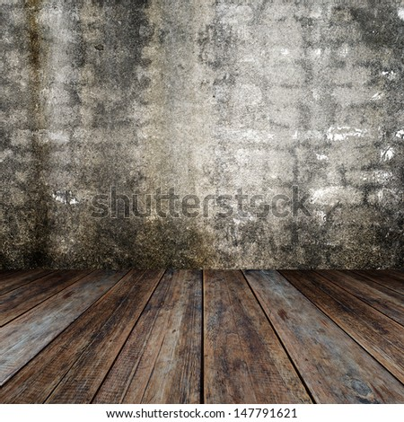 Interior old room. - stock photo