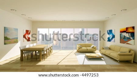 interior render - stock photo