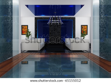 Interior room - stock photo