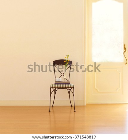 interior room and chair - stock photo
