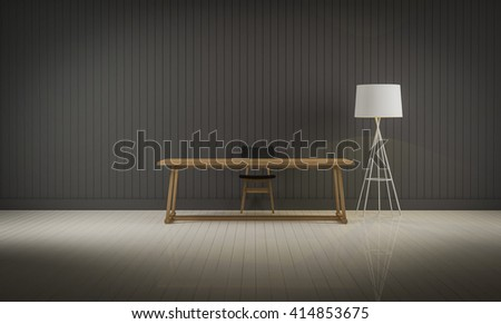 interior room for background 3d rendering