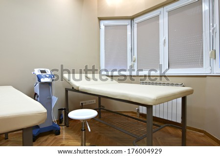 Interior room with Medical diagnostic equipment - stock photo