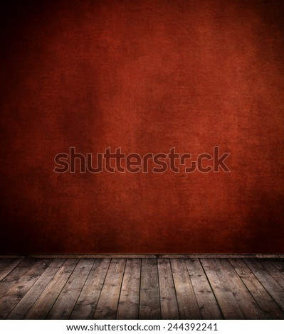 Interior room with textured wall - stock photo