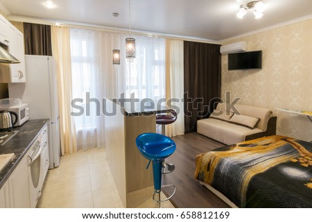 Small Studio Apartment Empty studio apartment stock images, royalty-free images & vectors