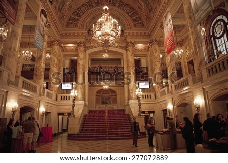 Interior view of Citi Performing Arts Center Wang Theater, Boston, MA - stock photo