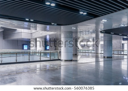 interior view of modern architecture in Shanghai of China.