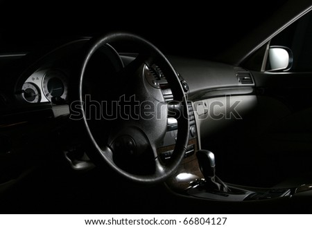 Interior View of the modern business car - stock photo
