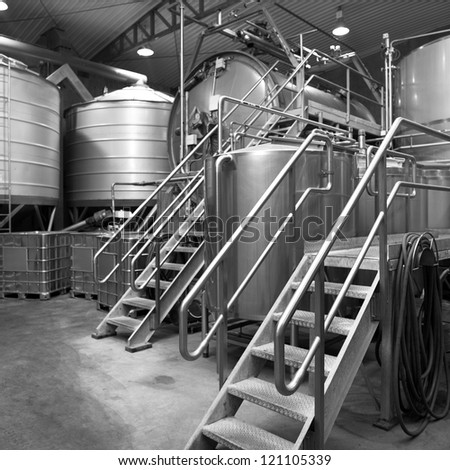 Interior view of  Whisky and Vodka Distillery - stock photo