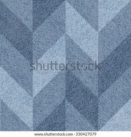 Interior wall panel pattern - seamless background - Design wallpaper - decorative panels - different shades - blue jeans textile - stock photo