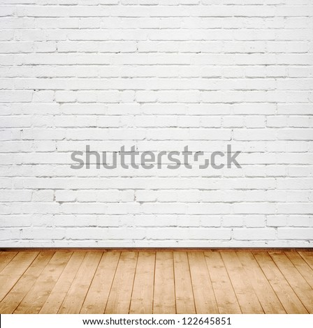 interior wall with spots - stock photo