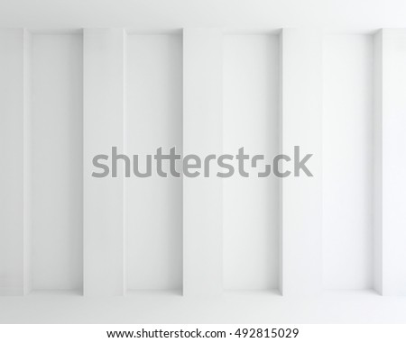 interior white wall abstract background - 3d rendering