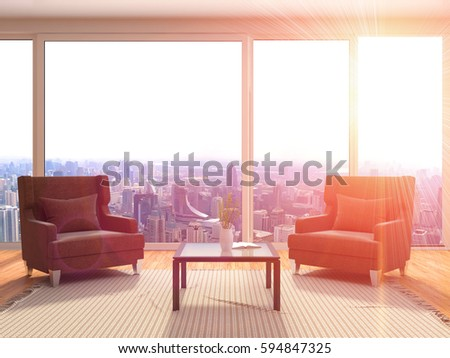 Interior Chair 3d Illustration Stock Illustration 505672201 ...