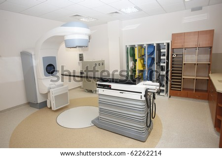 interior with ct scan in hospital