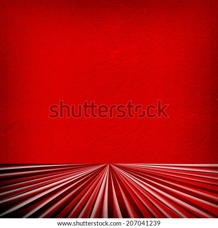 interior with rays pattern wall  - stock photo