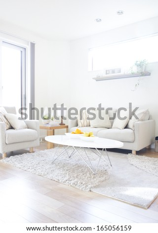 interior with sofa - stock photo