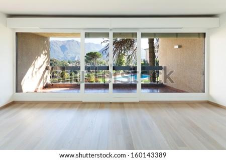 Interiors building,  modern apartment, living room - stock photo