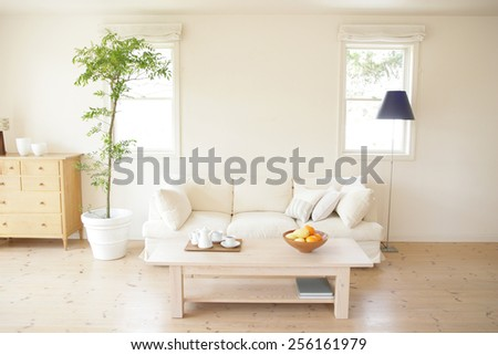 Interiors of a room - stock photo