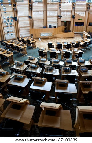 Interiors of Edinburgh Parliament, built in 2004