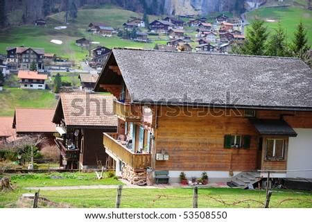 Interlaken town, Switzerland - stock photo