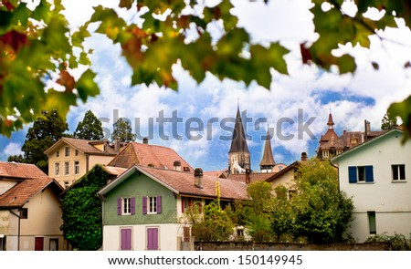 Interlaken view - stock photo