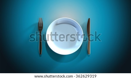 Intermittent fasting diet - stock photo