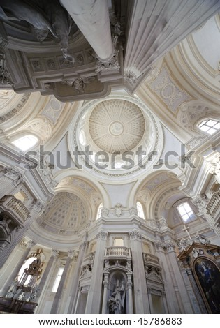 internal church detai royal palace Reggia di Venaria - Turin