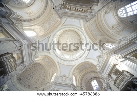 internal church detail royal palace Reggia di Venaria - Turin