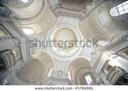 internal church detail royal palace Reggia di Venaria - Turin - stock photo