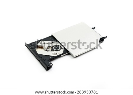 Internal  DVD, CD Writer Note book module - stock photo