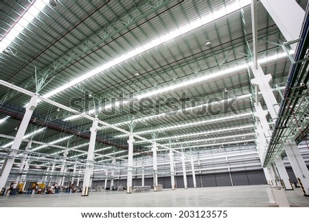 Internal factory buildings - stock photo