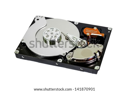 Internal hard disk isolated on white background
