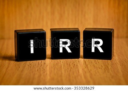 internal rate of return text on black block
