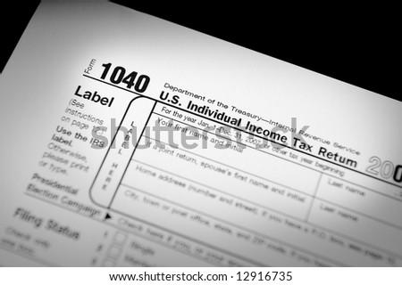 Internal Revenue Service Form 1040 - stock photo